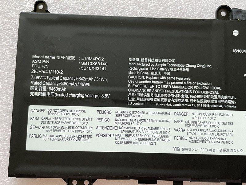 LENOVO L19M4PG2 5B10X63141 SB10X63140