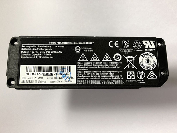 Bose 063404 2230mAH/17Wh Battery, Bose Rechargeable battery