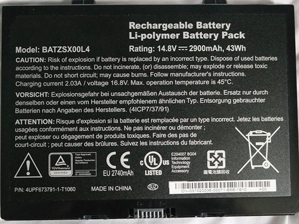 Battery BATZSX00L4